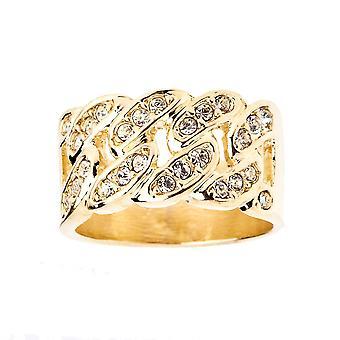 Iced out bling hiphop ontwerper ring - CUBAANSE ketting goud