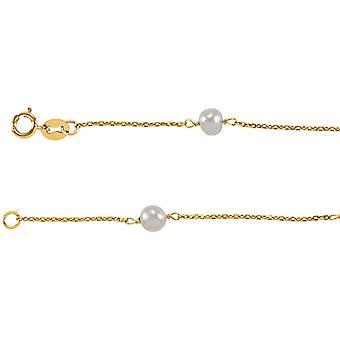 14k gule gull for gutter eller jenter armbånd med ferskvann kulturperler Pearl