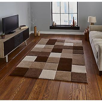 Brooklyn 646 Rectangle brun Beige tapis tapis modernes