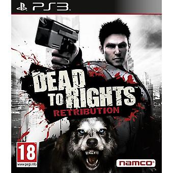 Dead to Rights Retribution (PS3) - Uusi