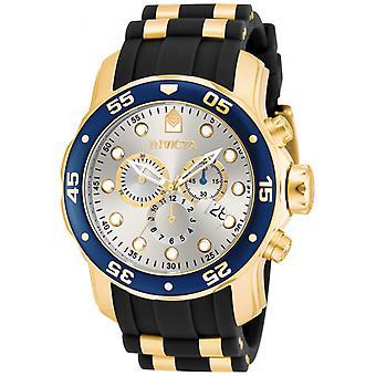 Invicta Pro Diver 17880 d'acier inoxydable, montre chronographe polyuréthane