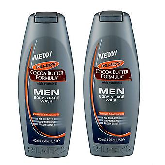 Palmer's Cocoa Butter Formula män kropp & Face Wash 400ml (2-Pack)