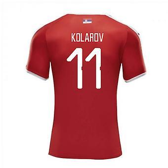2018-2019年セルビア ホーム プーマ サッカー シャツ (コラロフ 11)