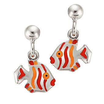 Scout Children earrings pierced earrings silver fish red girl 262134100