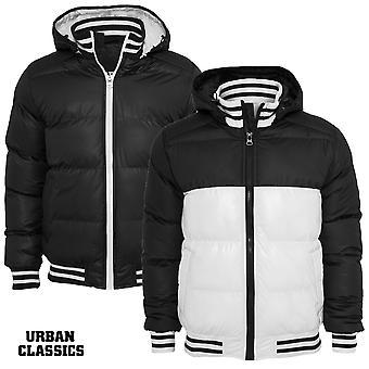 Urban Classics Shiny 2-tone Hooded College Bubble Jacket
