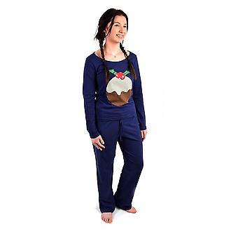 Дамы Рождество Xmas Пижамная установите праздничную ночь сна износ PJ подарок зимой тепло