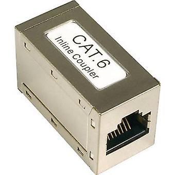 EFB Elektronik RJ45 Networks Adapter CAT 6 [1x RJ45 socket - 1x RJ45 socket] Metaal