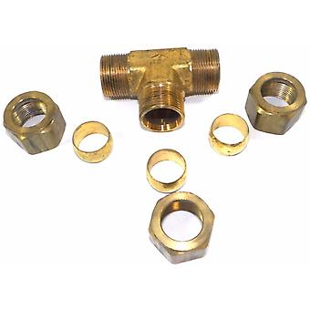 "Big A Service Line 3-164920 Brass Pipe, Tee Fitting Kit 3/4"" x 3/4"" x 3/4"""