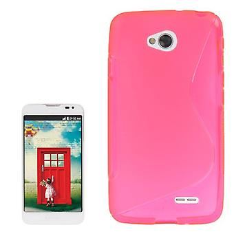 Mobile Shell S line TPU case for LG L70 / dual D325 pink