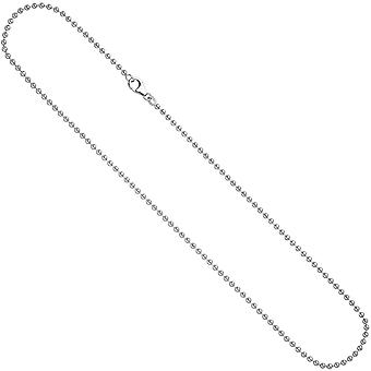 Ball chain 925 chain 2.5 mm 60 cm necklace silver chain silver chain carabiner