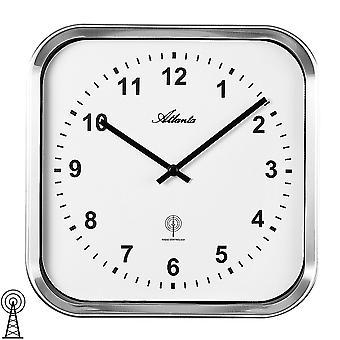 Atlanta 4384/0 wall clock radio analog silver radio controlled wall clock