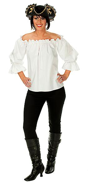 Pirat genser stroppeløs hvit Pirate kostyme for kvinner