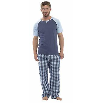 Wolf & Harte Mens coton manches courtes haut de Pyjama Lounge Wear