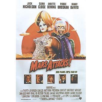 ¡Ataques de Marte! Cartel de la película de cartel