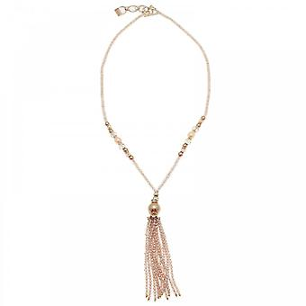Butterfly Gold Dust Long Beaded Necklace