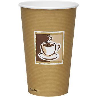 Tazze di carta di parete singola di piegatrici Caffe Premium 16oz