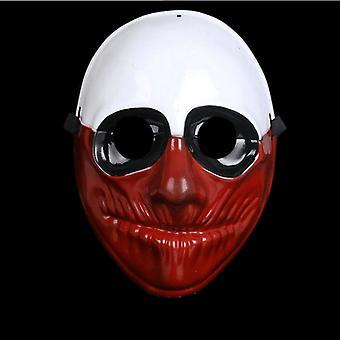 Klaun purge maska Maškaráda strana strana Halloween-hnedá-biela