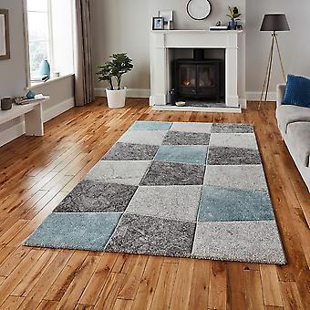 Alfombras modernas alfombras de Brooklyn 22192 rectángulo azul gris