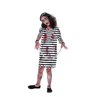 Zombie gevangene Girl, Halloween kind Fancy Dress, kleine leeftijd 4-6