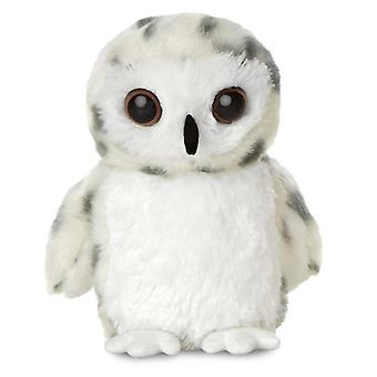 Aurora Mini Flopsies - Snowy Owl Soft Toy 20cm
