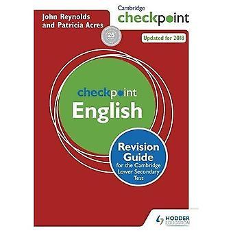 Cambridge Checkpoint Englisch Revision Guide für den Cambridge sekundäre 1 Test
