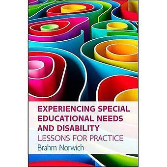 Éprouvant des besoins éducatifs spéciaux ou invalidité: leçons pour la pratique