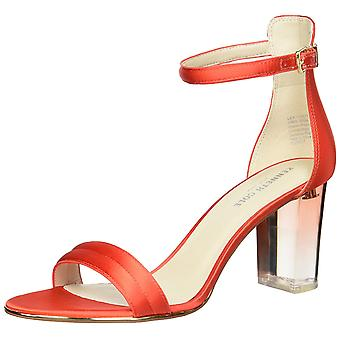 Kenneth Cole New York Womens Lex Lucite Leather Open Toe Special Occasion Ankle Strap Sandals