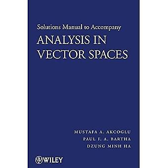 Analyse in vectorruimten: oplossingen handleiding: Student oplossingen handleiding