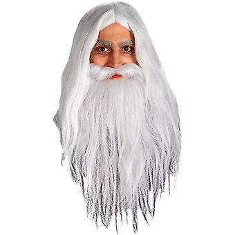 White Wig And Beard For Gendalf Costume