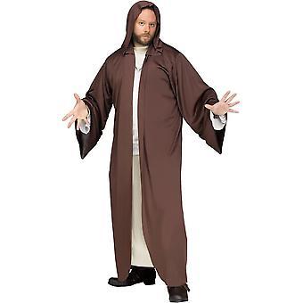 Hooded Robe Brown Adult