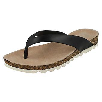 Womens Waves Mid Wedge Toepost Sandal