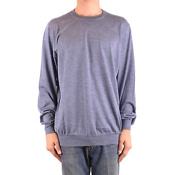 Brunello Cucinelli Ezbc002036 Men's Light Blue Cashmere Sweater