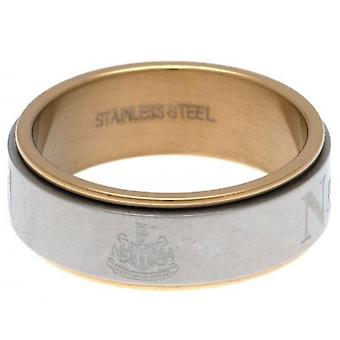Newcastle United FC Bi Colour Spinner Ring