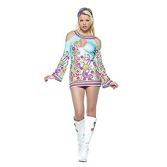 Groovy Go-Go Dancer 1960s Retro Hippie Hippy Disco Women Costume