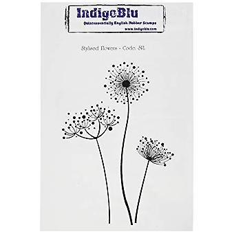 IndigoBlu Stylised Flowers Mounted A6 Rubber Stamp (SFL)
