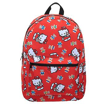 Hello Kitty All Over Print Sublimated Backpack