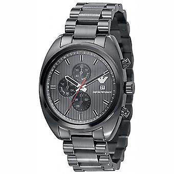 Emporio Armani Ar5913-Mens esportes cinza Ion plated pulseira Watch
