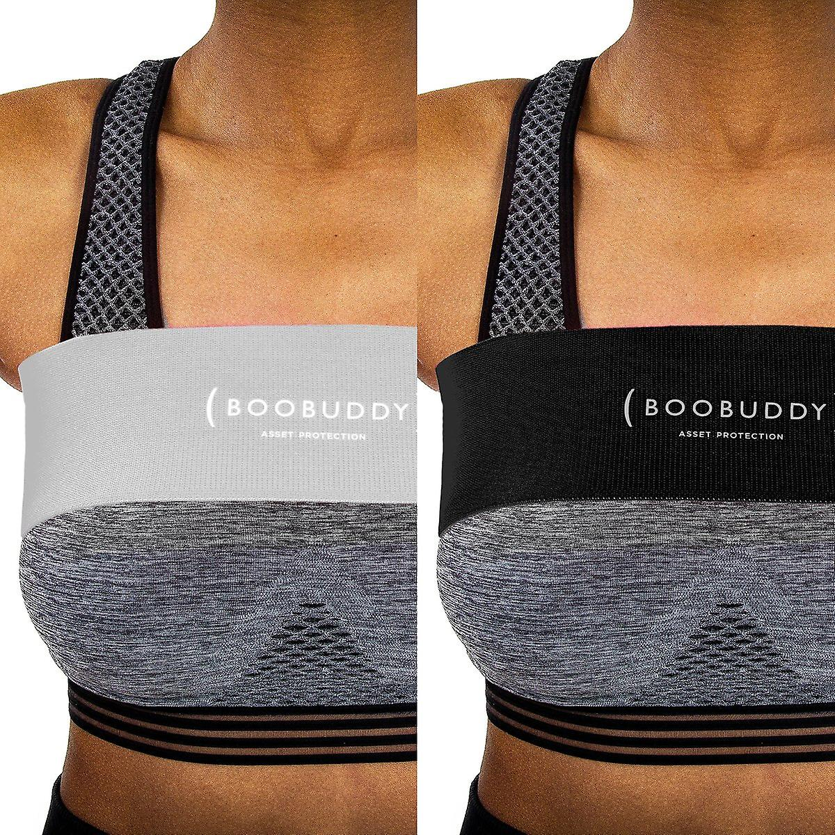 Boobuddy breast support band bundle – grey & black