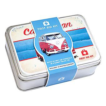Classic Campervan 50 Piece First Aid Travel Tin