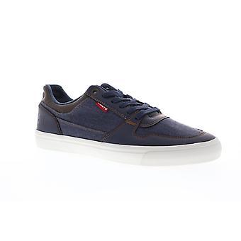 Levis Mason 501 PG mens blå canvas casual mode sneakers skor