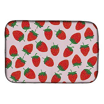 Carolines Treasures BB5146DDM jordbær på Pink Dish tørking mat