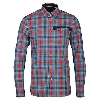 Fred Perry Men's Cameron Tartan Long Sleeve Shirt M7377-395