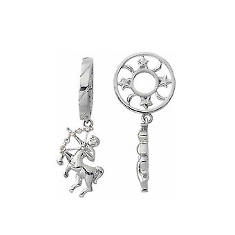 Storywheels Silver & timantti jousi mies Zodiac Dangle Charm S198D