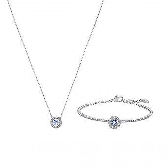 Swarovski Box 5506386 - Pendentf Necklace and Bracelet M Silver Rate S Women's Tincing Crystals