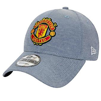 New Era 9Forty Adjustable Cap - CHAMBRAY Manchester United