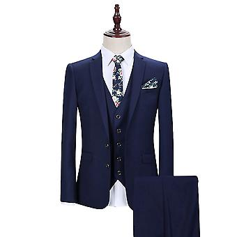 Allthemen Men's Trajes de 3 piezas Solid Business Blazer&Vest&Pants