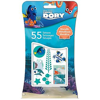 Metallic Tattoo - Disney - Finden Dory Metallic + 4c Tattoos 55ct tt1026
