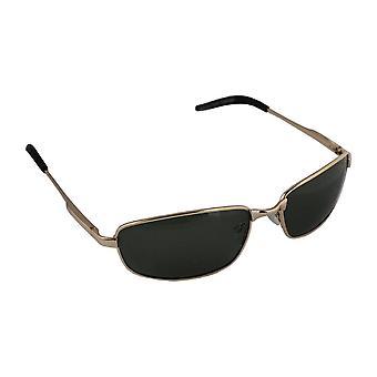 Men's Sunglasses Polaroid Rectangular - Gold/Green with free brillenkokerS305_1
