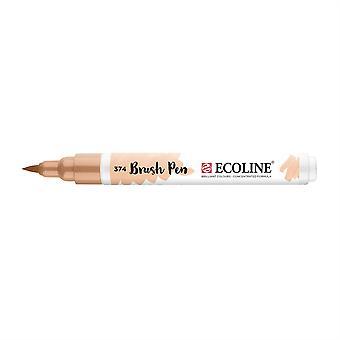 Talens Ecoline Liquid Watercolour Brush Pen - 374 Pink Beige