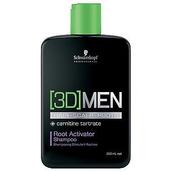 Schwarzkopf 3D menn root Activator shampoo 250ml